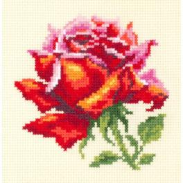 MN 150-003 Stickpackung - Rote Rose