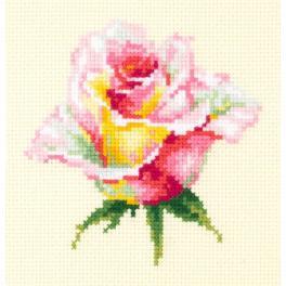MN 150-004 Stickpackung - Blühende Rose