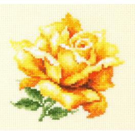 MN 150-005 Stickpackung - Gelbe Rose