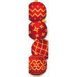 ZU 10688 Stickpackung - Lesezeichen mit Weihnachtskugeln