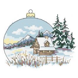 Z 10343-01 Stickpackung - Landschaft mit Weihnachtskugel