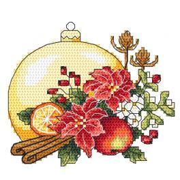 Z 10344-01 Stickpackung - Weihnachtskomposition mit Weihnachtskugel