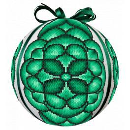 ZU 10686 Stickpackung - Grüne Weihnachtskugel