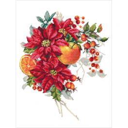 GC 10345 Gedruckte Kreuzstichvorlage - Weihnachtskomposition