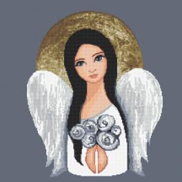Z 10476 Stickpackung - Engel der stillen Nacht