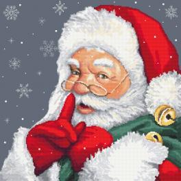 GC 10477 Gedruckte Kreuzstichvorlage - Verschmitzter Weihnachtsmann