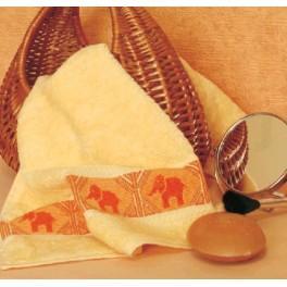 Handtuch mit Elefanten - Zählmuster