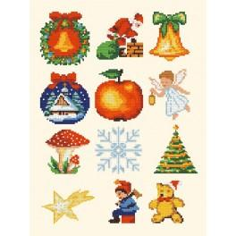 Weihnachtsschmuck - Zählmuster