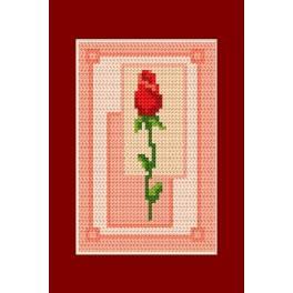 Valentinstag- Eine Rose - Zählmuster