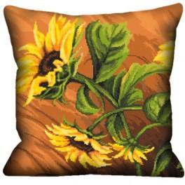 Kissen mit Sonnenblumen - Zählmuster