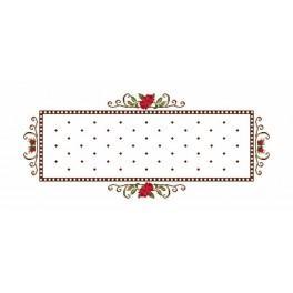 Tischläufer - Röschen - Zählmuster