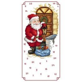 Adventskalender – Nikolaus mit Geschenken - Zählmuster