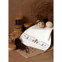 Handtuch mit Wasserkessel - Zählmuster