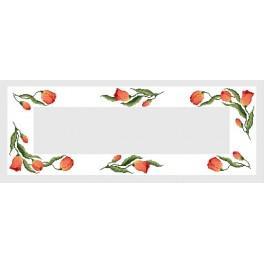 Tischläufer mit Tulpen - B. Sikora-Malyjurek - Zählmuster