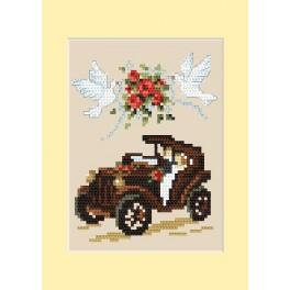 Hochzeitskarte - Automobil - B. Sikora - Zählmuster