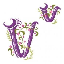 Monogramm V - Zählmuster