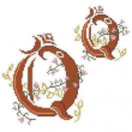Monogramm Q - Zählmuster