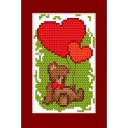 Valentinstag- Das Bärchen - Zählmuster
