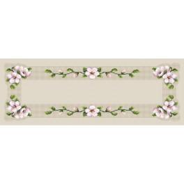 B.Sikora - Tischläufer mit Kirschblüte - Zählmuster