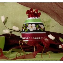B.Sikora-Malyjurek - Frühlingshaftes Osterei - Zählmuster