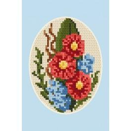 Gelegenheitskarte- Blumen - Zählmuster