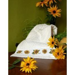 Handtuch mit Sonnenblumen - Zählmuster