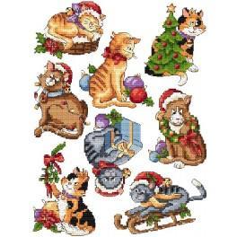 Weihnachtskatzen - Zählmuster