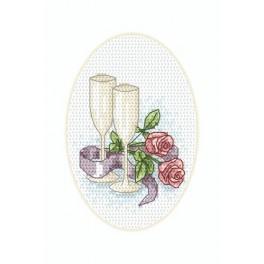 Karte zur Hochzeit – Gläser - Zählmuster