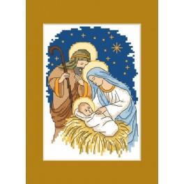 Weihnachtskarte - Zählmuster