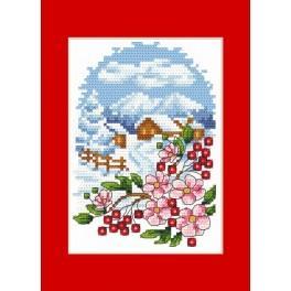 Weihnachtskarte - Landschaft - Zählmuster