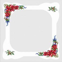 Tischdecke mit Weihnachtsstern - Zählmuster