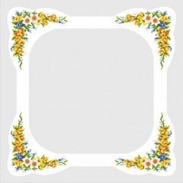 Tischdecke mit Frühlingsblumen - Zählmuster