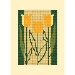 Geburtstagskarte - Drei Tulpen - Zählmuster