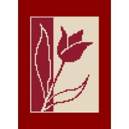 Geburtstagskarte - Tulpe - Zählmuster