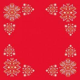 Serviette - Weihnachtsstern - Zählmuster