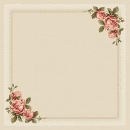 Tischdecke mit Rosen - Zählmuster