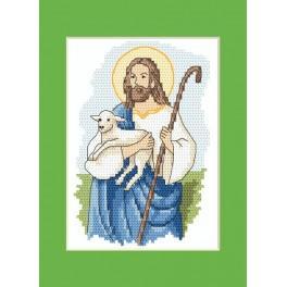 Osternkarte - Christus - Zählmuster