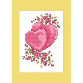 Zahlmuster online - Hochzeitskarte - Die Herzchen