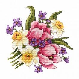 Zahlmuster online - Der Frühlingsblumenstrauß