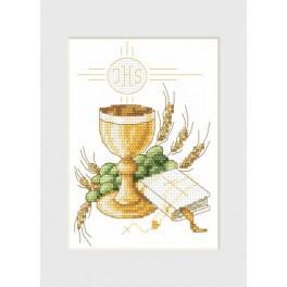 W 4991 Zahlmuster online - Kommunion-Karte - Glas