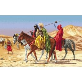 Zahlmuster online - Arabische Reiter - Jean-Leon Gerome