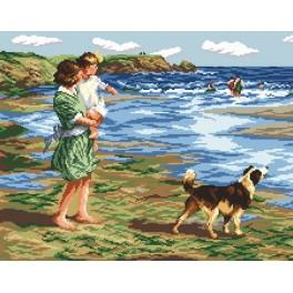 Zahlmuster online - Spaziergang im Sommer - Edward Potthast