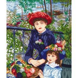 Zahlmuster online - Zwei Schwestern - Pierre August Renoir