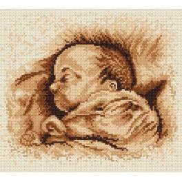 Zahlmuster online - Das schlafende Kind