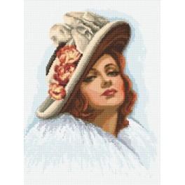 Zahlmuster online - Die Dame mit dem Hut