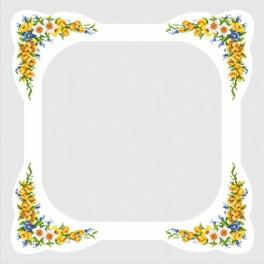 Zahlmuster online - Tischdecke mit Frühlingsblumen
