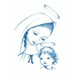 Zahlmuster online - Himmlische Maria