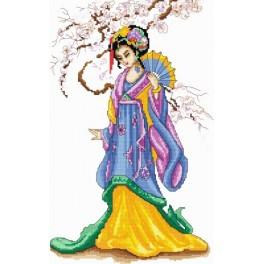 Zahlmuster online - Die Geisha