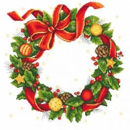 Zahlmuster online - Tischdecke - Weihnachtskranz