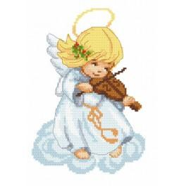 Zahlmuster online - Engel mit Geige